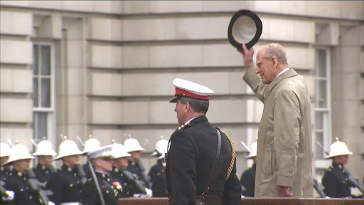 Prince Philip carries out final public engagement at Buckingham Palace