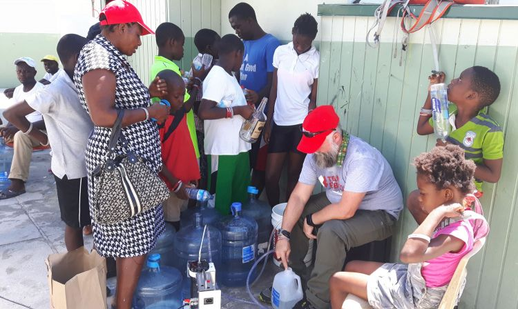 Team Rubicon UK Turks and Caicos Hurricane Irma Water Purifier 19 September 2017