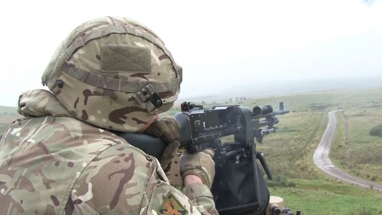 3 SCOTS Exercise On The Ranges