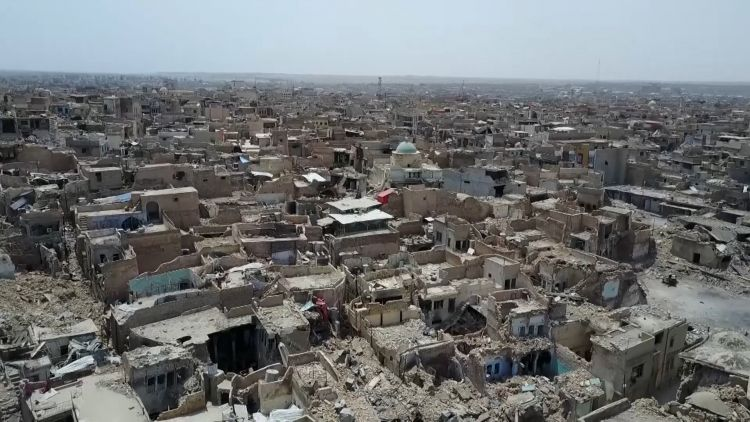 33,000 devices have been removed from the large city of Mosul (Picture: Department for International Development).