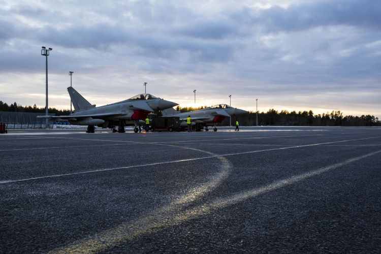RAF Typhoons Estonia CROWN COPYRIGHT