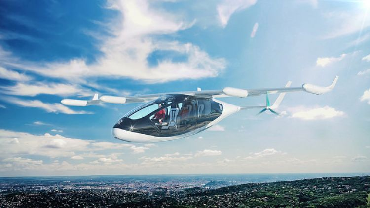 Rolls-Royce concept for electric vertical take-off and landing vehicle (Evtol)
