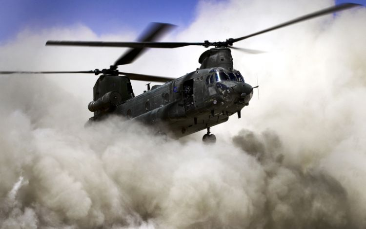 An RAF Chinook helicopter is also known as a 'cab'. Credit: PO (PHOT) Hamish Burke, Crown Copyright