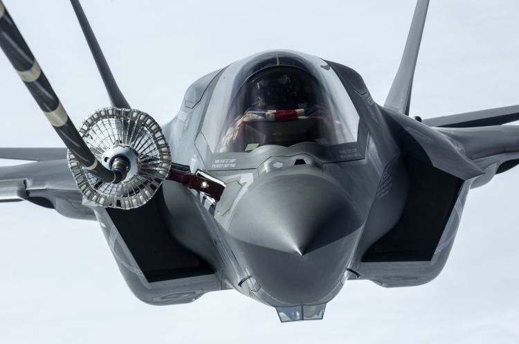 the first of the UK's F-35B Lightning II jets to be flown to the UK.