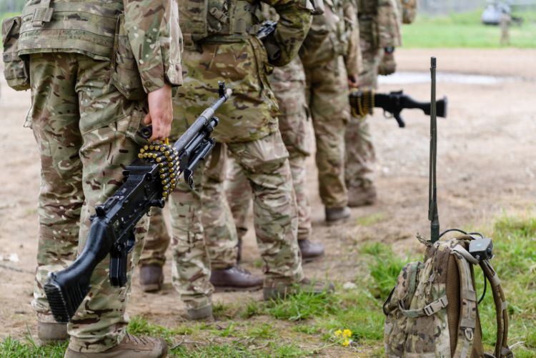 Soldiers on exercise (Picture: MOD).