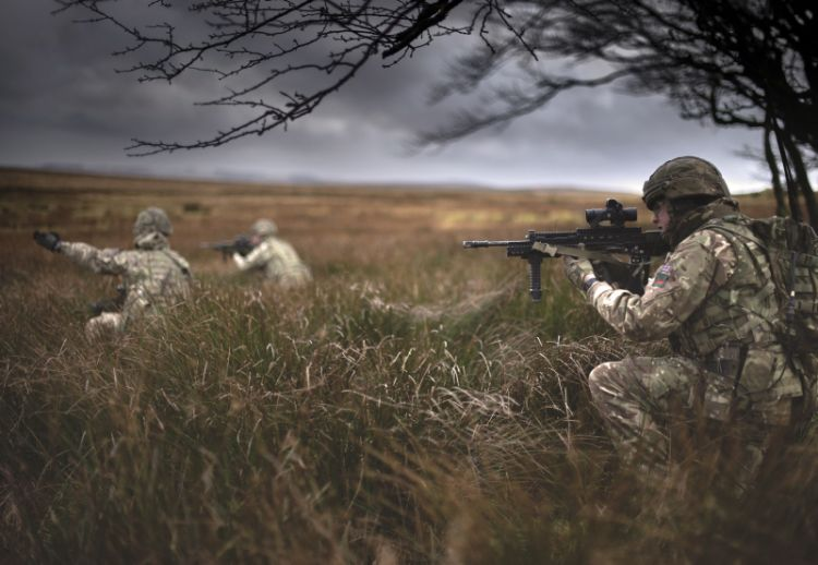 1 RIFLES soldiers pictured during an exercise on the Sennybridge Training Area. Credit: Sergeant Tom Evans, Crown Copyright