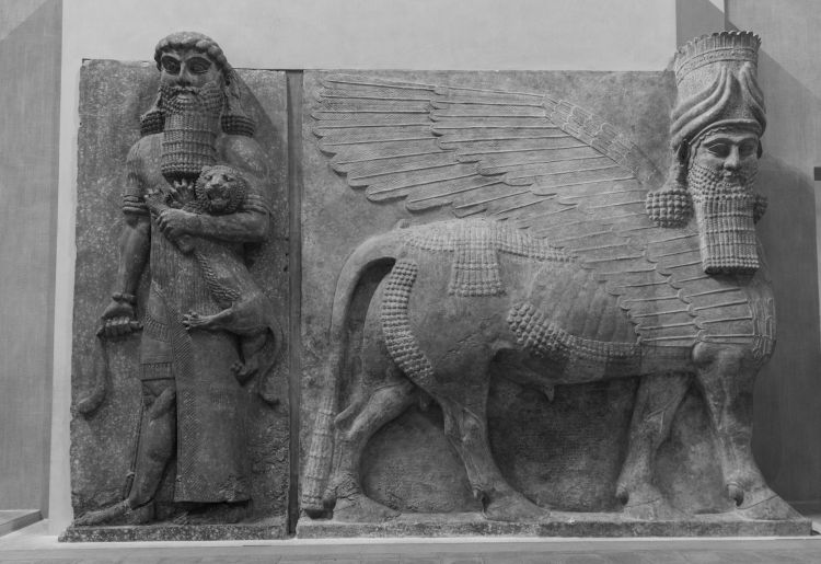 4Y1A6598 Louvre, Gilgamesh and Lion by Ninara