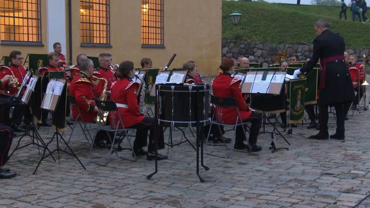 4th Battalion the Yorkshire Regiment band in Denmark Credit BFBS 11.10.19