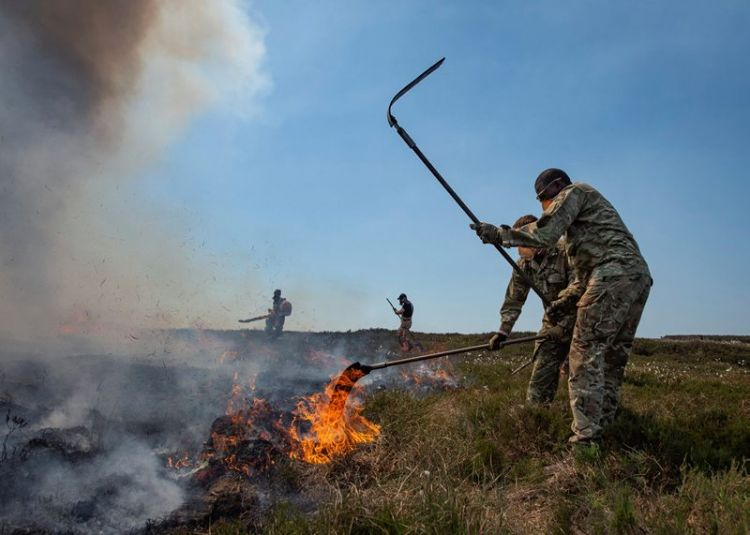 4th Battalion, Royal Regiment of Scotland, Saddleworth Moor Fires