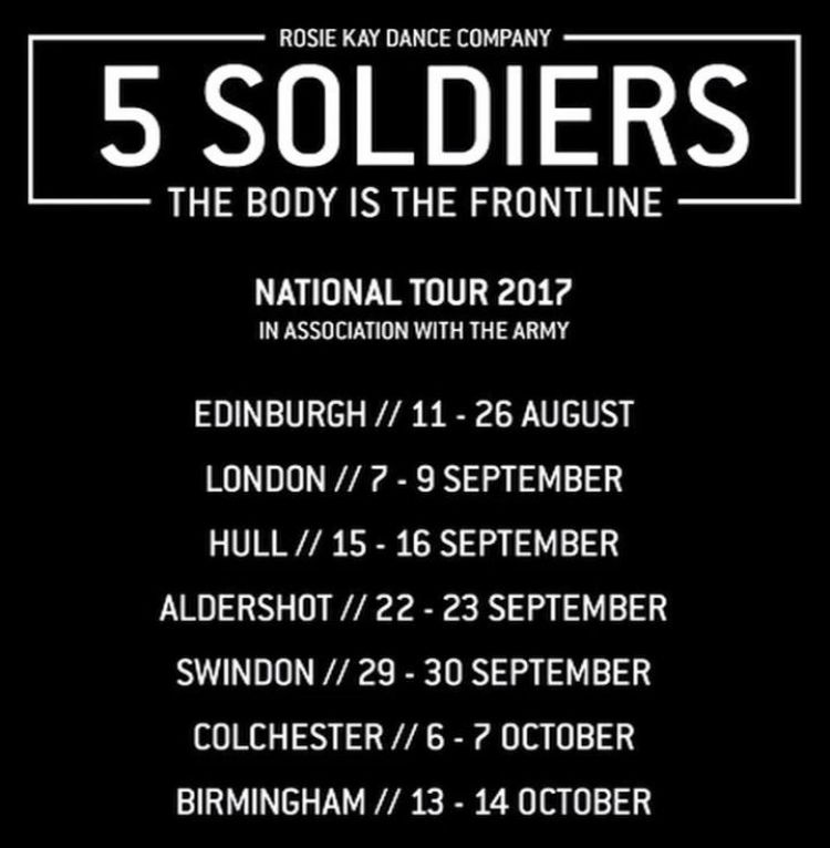 5 Soldiers The Body Is The Frontline National Tour Dates 2017