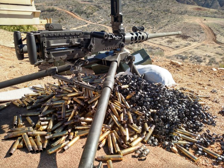50 Cal Machine gun image from Shutterstock
