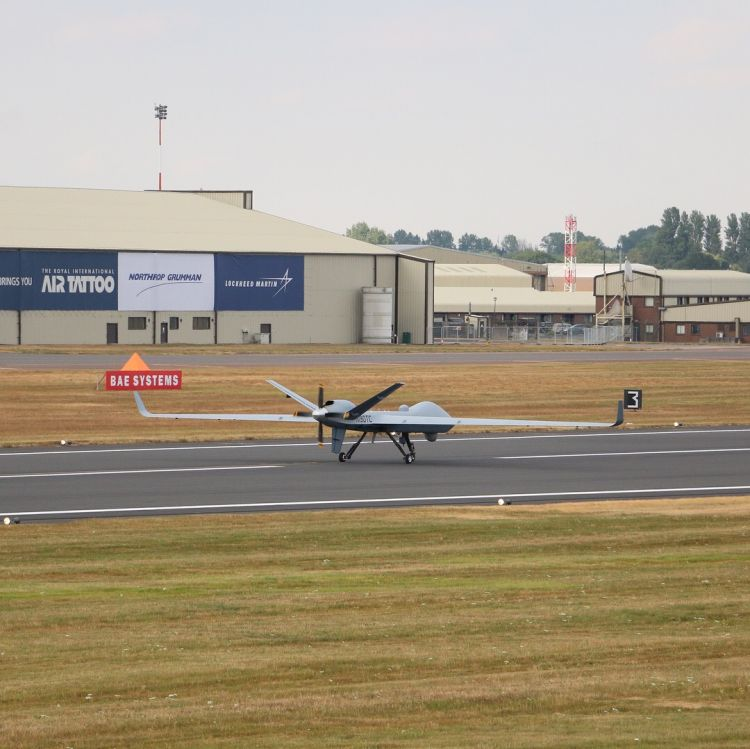 Combat drone lands in UK after historic trans-Atlantic flight