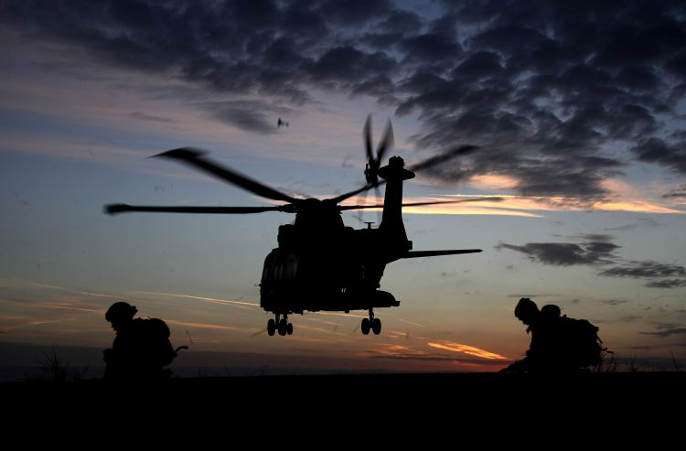 A Merlin returning to base after deploying Royal Marines as part of Exercise Toxic Dagger 100119 CREDIT Royal Navy_0.jpg