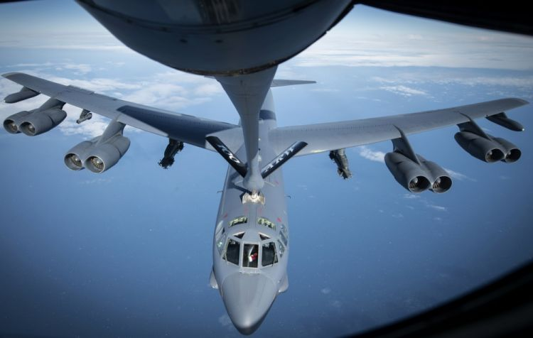 "A B-52 which carries the Hammerhead may be ""vulnerable"" to ground-based attacks, according to Sidharth Kaushal (Picture: US Department of Defense)."