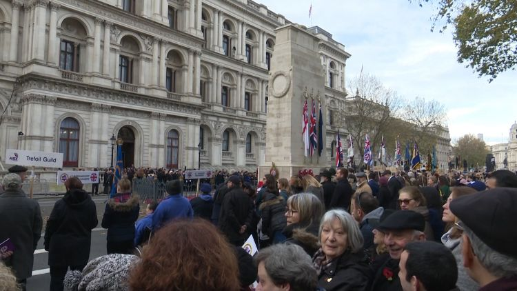 AJEX ceremony around the Cenotaph 171119 CREDIT BFBS