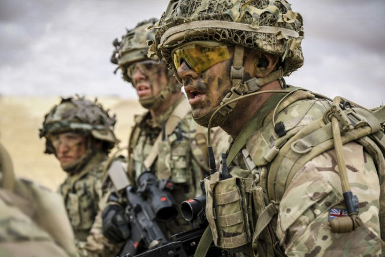 Members of C Company 2 Royal Anglian, seen here on exercise AHMOSE 1, south-west of Alexandria in Egypt.