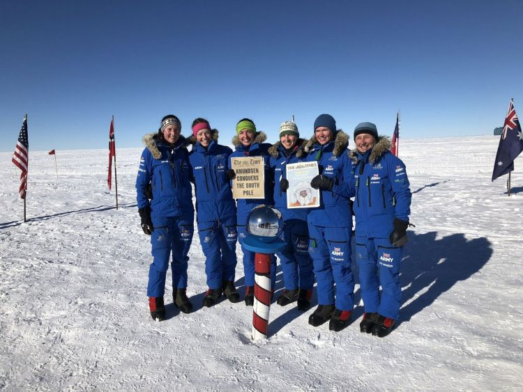 Starting on the edge of the Ross Ice Shelf on the 20th November 2017, the team climbed up the Transantarctic Mountains, via the Leverett Glacier, to reach the polar plateau.  After a re-supply at the South Pole the team turned north-west towards Hercules Inlet.