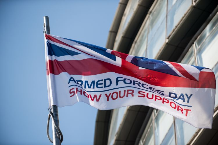 Armed Forces Day Flag London City Hall
