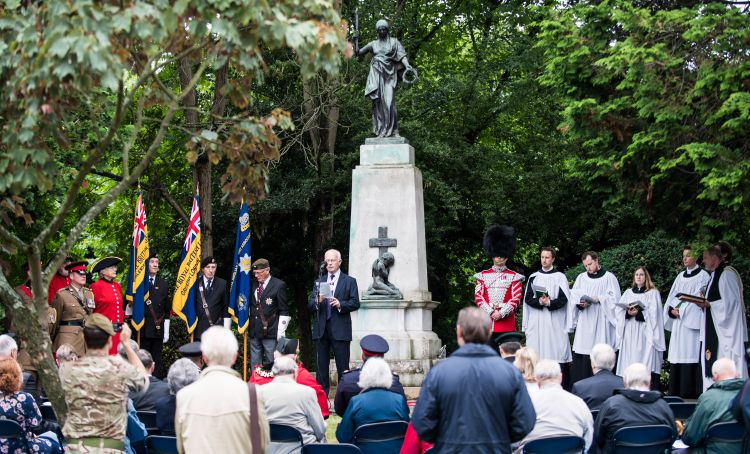 Memorial ceremony for 2nd Lt Frank Wearne VC