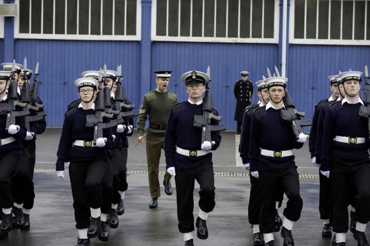 Royal Navy And British Army Unite For Drill Practice