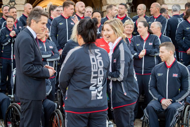 Gavin Williamson meets Team UK for the Invictus Games 2018