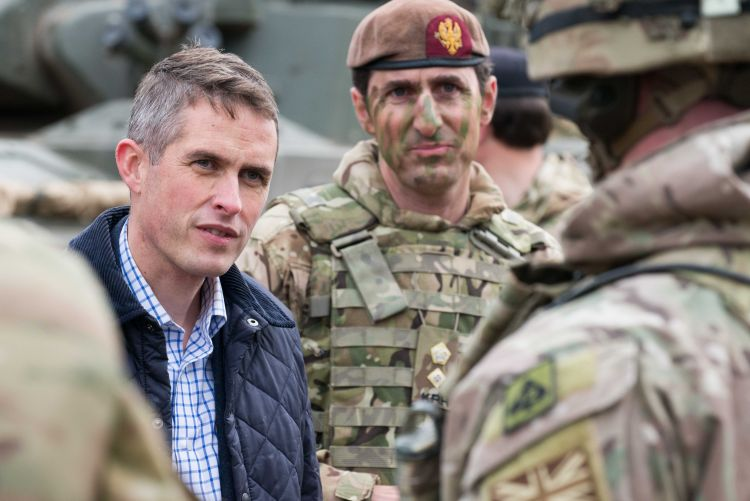 "Gavin Williamson says strikes send a ""clear message to the regime"" (Image: MoD)"