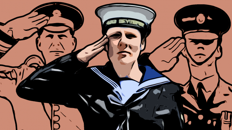 Graphic of the Royal Navy Salute