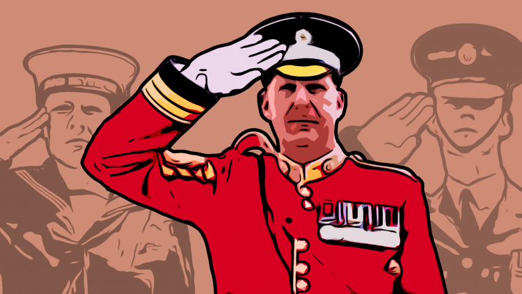 Graphic of the British Army Salute