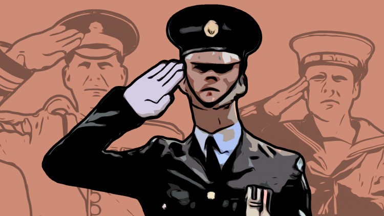 Graphic showing the Royal Air Force Salute