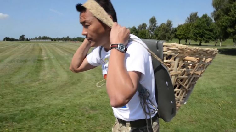 ARRC member carrying Doko in gloucestershire 010720 CREDIT BFBS.jpg