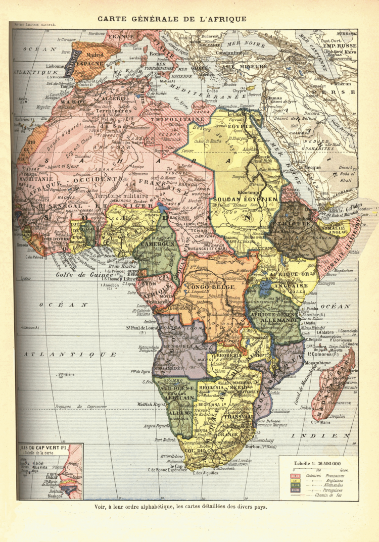 Africa1898 - a French map of the continent