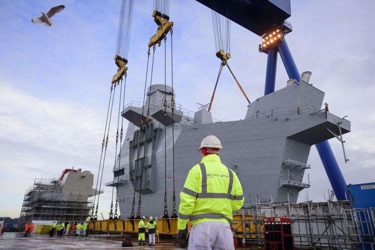 Impressive Super Structure Installed On HMS Prince Of Wales