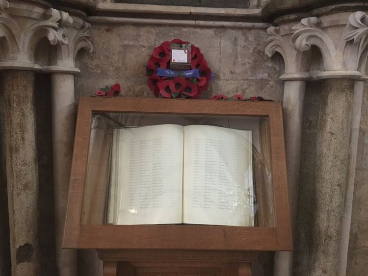 Lincoln Cathedral Airmen's Chapel Remembrance Book