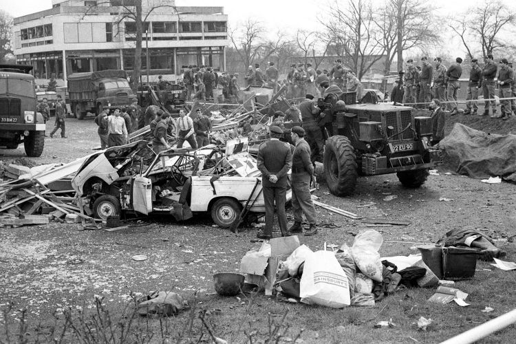 IRA Bomb Aldershot Barracks Black And White Image ref 5315425 Credit PA/PA Archive/PA Images