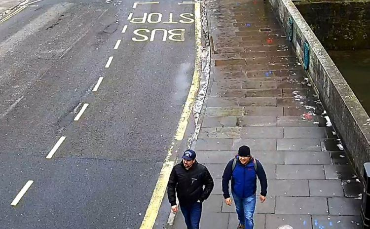 Petrov and Boshirov on CCTV (Picture: Metropolitan Police).