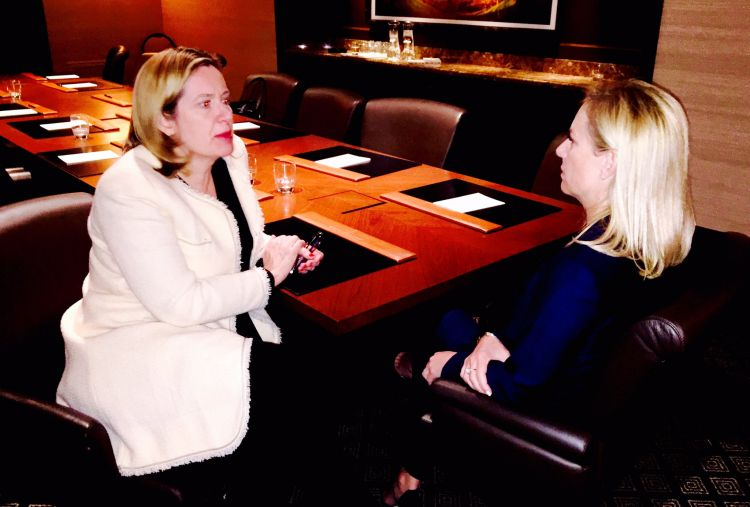 Amber Rudd meets US Homeland Security Secretary