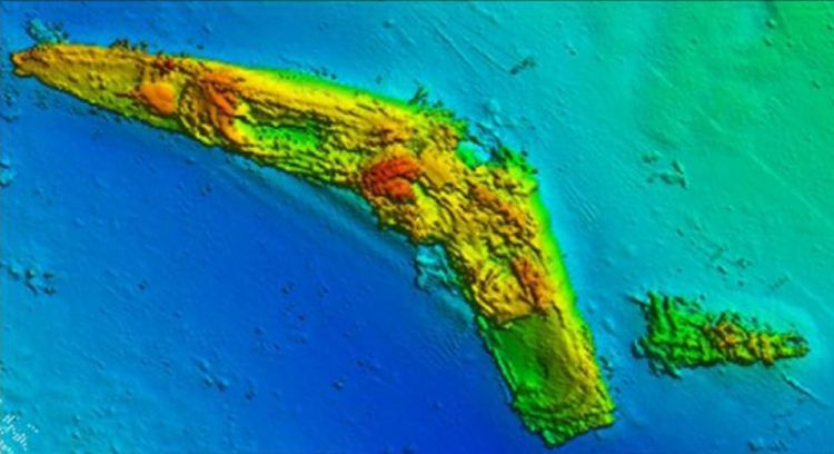 HMS Antelope sonar colour scan - Falklands wrecks. Credit: MoD