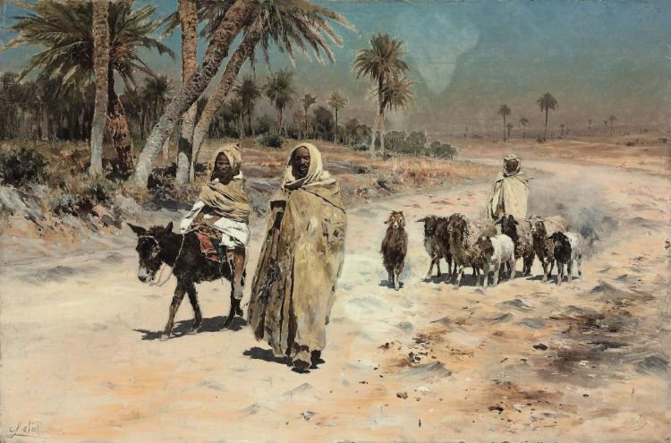 Antonino_Leto_-_Arab_sheep_herders by Christie's