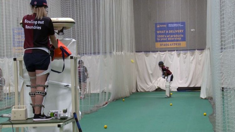 Army women's cricket team, training session with Northants