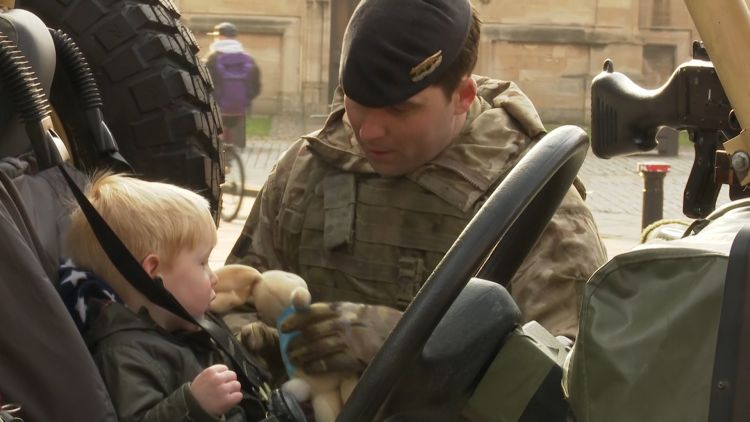 Army and child in York 040419 CREDIT BFBS.jpg