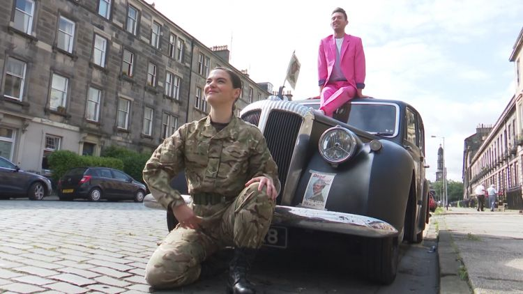 Army at the fringe performance in the street 050819 credit bfbs.jpg