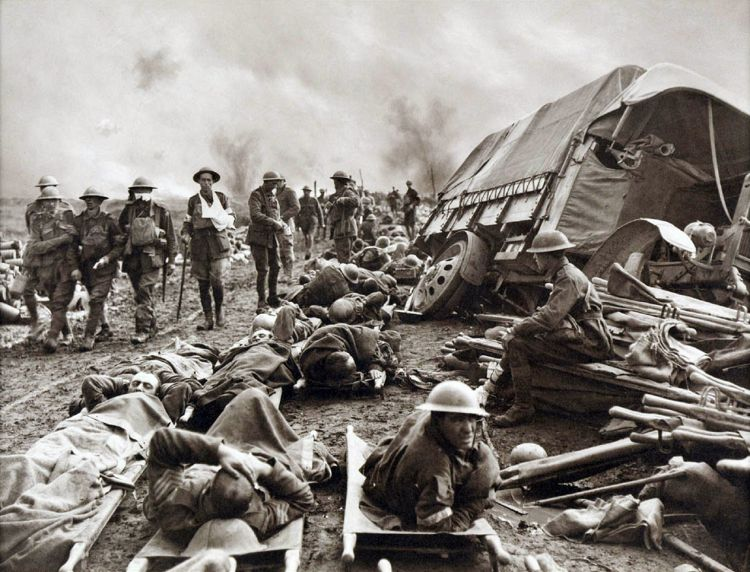 Australian wounded during the battle