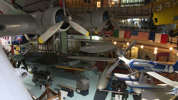 Aviation heritage replicas at WWI Flyign Museum 251119 CREDIT BFBS.jpg