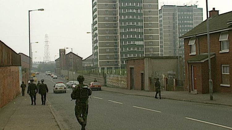 Soldiers on patrol in Northern Ireland