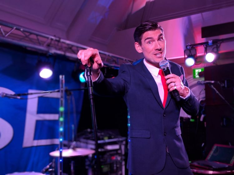 Lewis Sings Swing performs at The Chelsea Pensioners Club for CSE