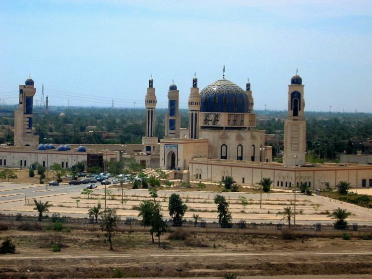 The Umm al-Qura Mosque in Baghdad, built to commemorate Saddam's 'victory' in the Gulf War