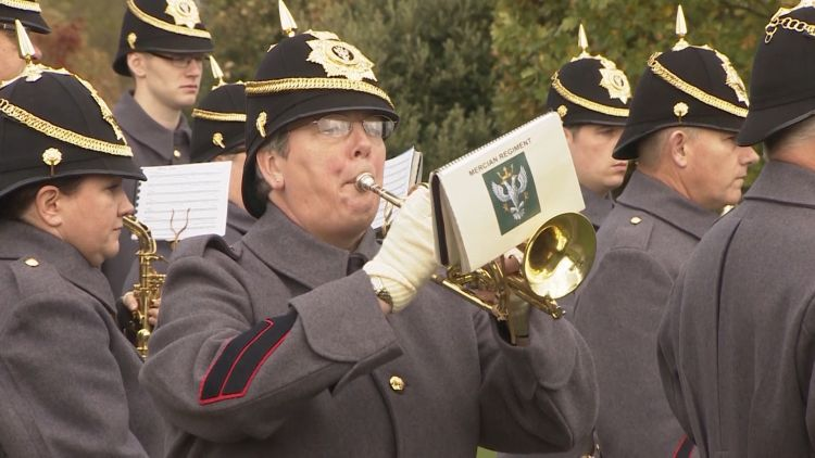 Band playing at NMA field of remembrance opening 041119 CREDIT BFBS.jpg