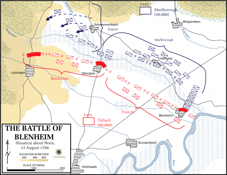 Battle_of_Blenhiem_-_Situation_about_noon,_13_August_1704
