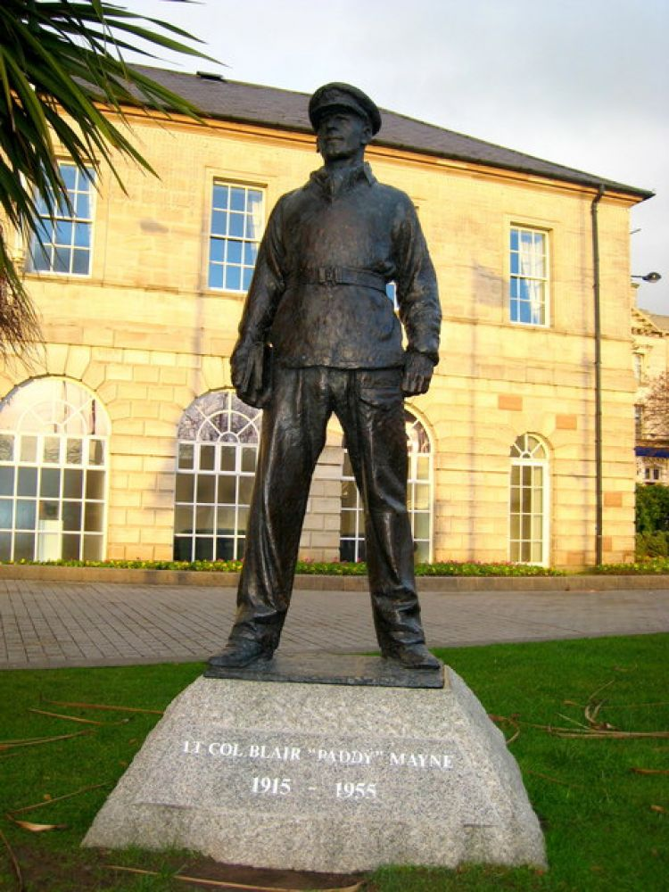 Blair Mayne statue, Newtownards by Albert Bridge