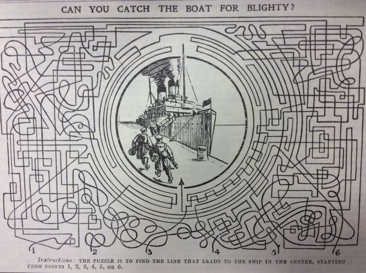 Blighty Magazine Cartoon maze